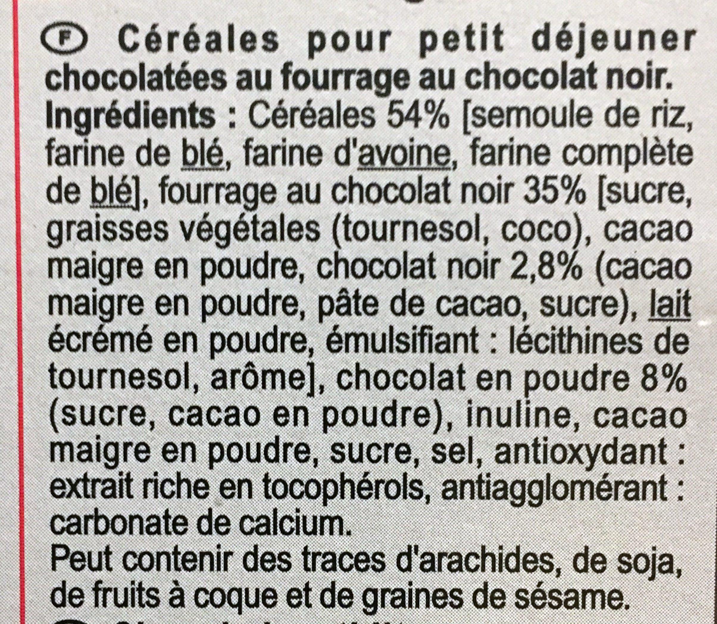 X'trem Cœur fondant chocolat noir intense - Ingrédients - fr