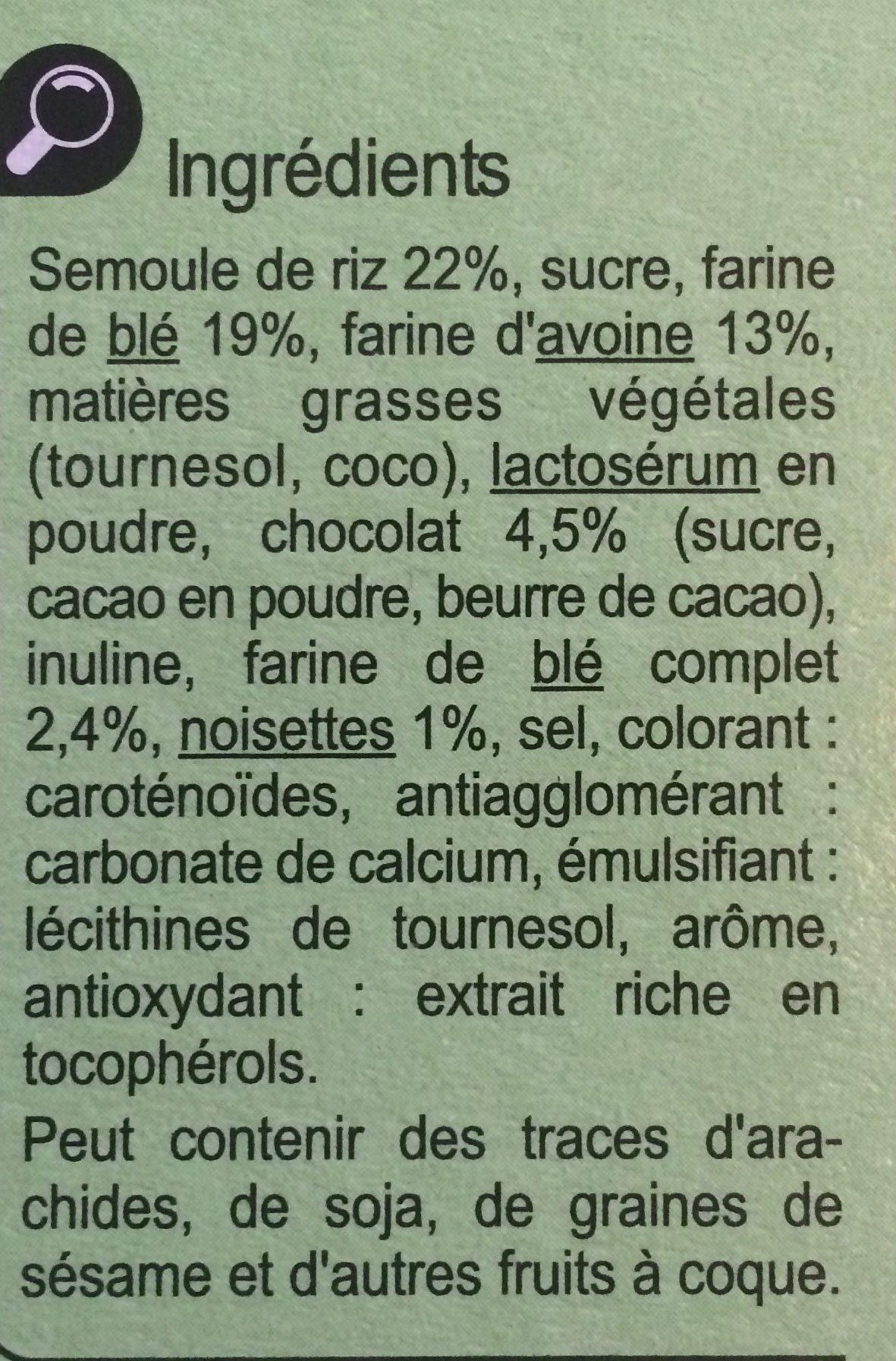 Xtrem goût chocolat noisette - Ingrédients - fr