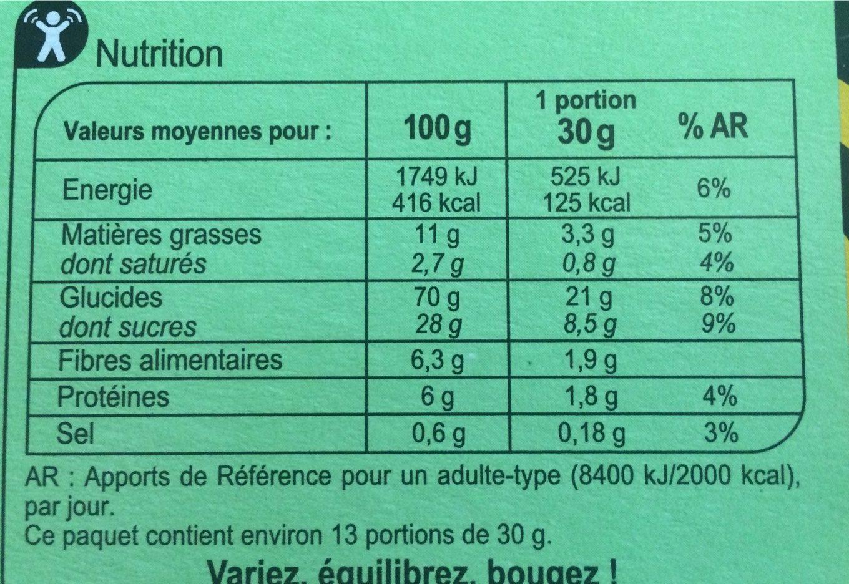Xtrem goût chocolat noisette - Informations nutritionnelles - fr