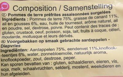 Pommes de terre façon Rôtissoire - Ingrediënten - fr