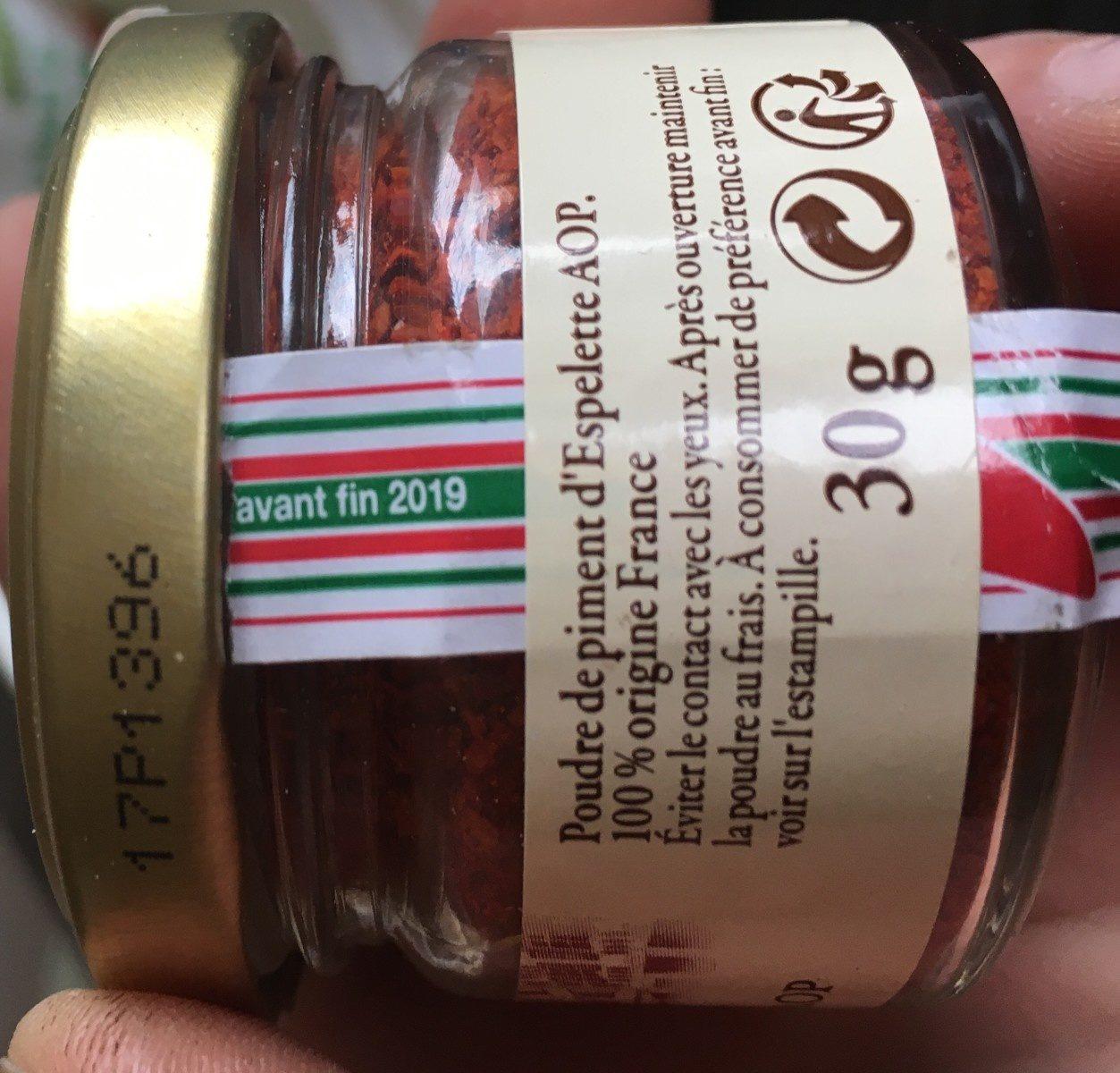 Piment d'Espelette AOP - Ingredients - en