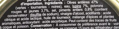 Cocktail, Mélange Olives et lupins - Ingrédients - fr