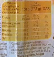 Dés de Jambon (- 25 % de Sel) - Nutrition facts - fr