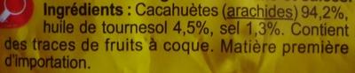 Cacahuètes grillées salées - Ingredients