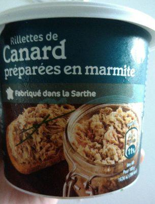 Rillettes de Canard préparées en marmite - Produit - fr