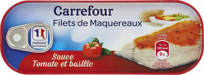 Filets de maquereaux sauce tomate et basilic - Produit - fr