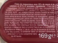 Filets de maquereaux - Ingrédients - fr