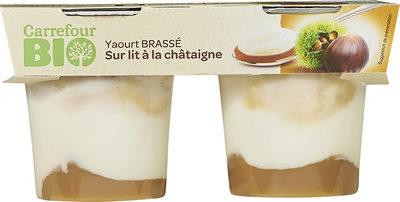 Yaourt brassé  Sur lit à la châtaigne  avec arômes naturels - Product - fr