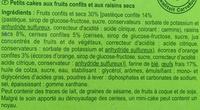 Mini-Cakes aux Fruits - Ingredients - fr