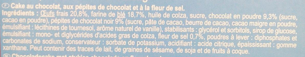 Cake au Chocolat - Ingredients - fr