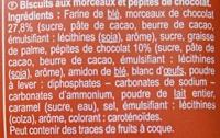 Cookies Big Rocks chocolat (x 8) - Ingredienti - fr