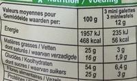 Mini Galettes de Riz Chocolat Noir Noix de Coco Râpée - Informations nutritionnelles - fr