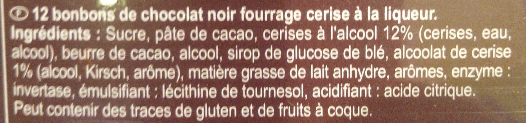 Chocolats à la liqueur - Ingredienti - fr