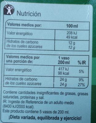 Zumo piña 100% exprimido - Informació nutricional