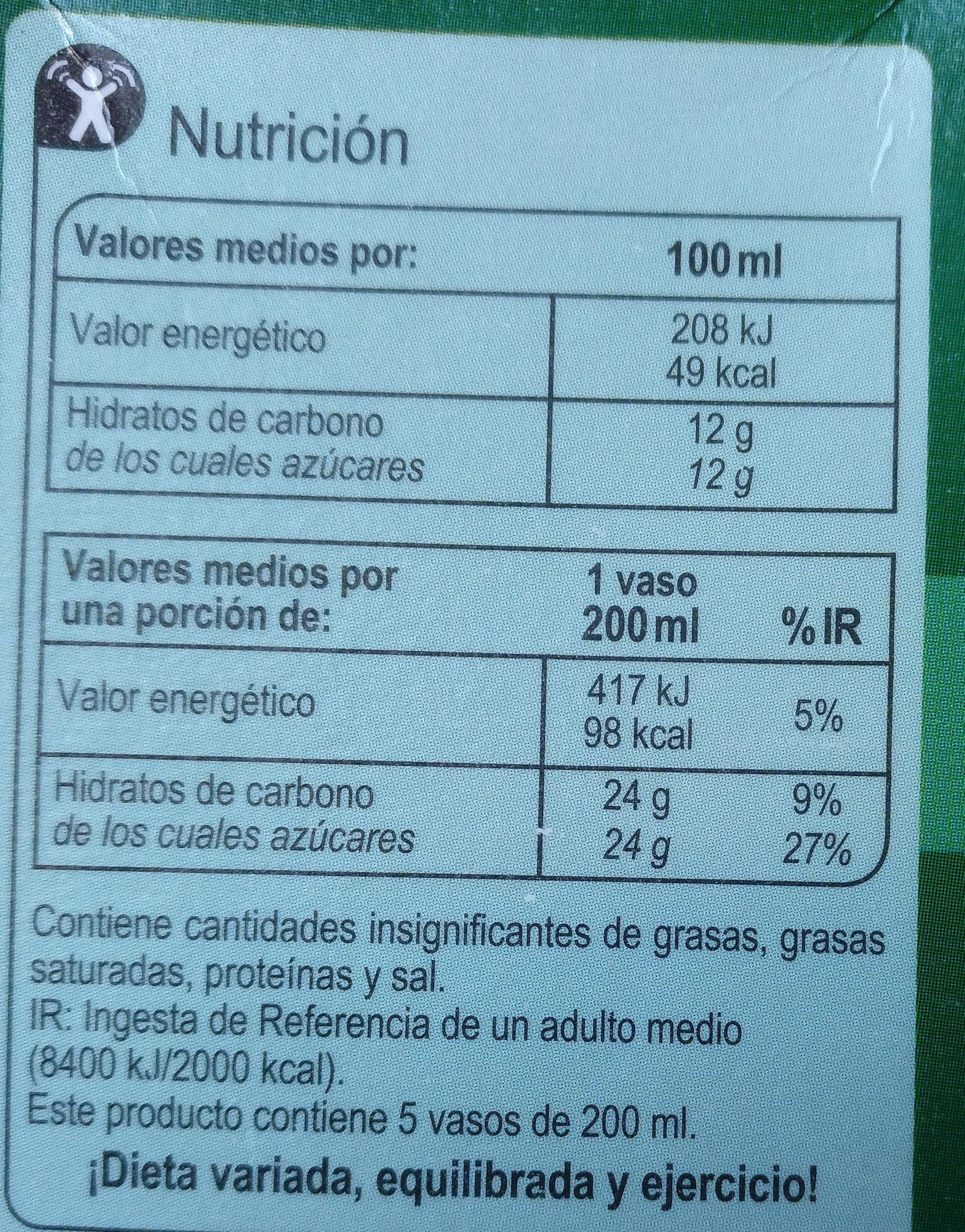 Zumopiña100% exprimido - Información nutricional - es