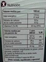Zumoclementina100% exprimido - Información nutricional - es