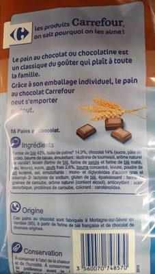 Pains au chocolat - Ingredients - fr