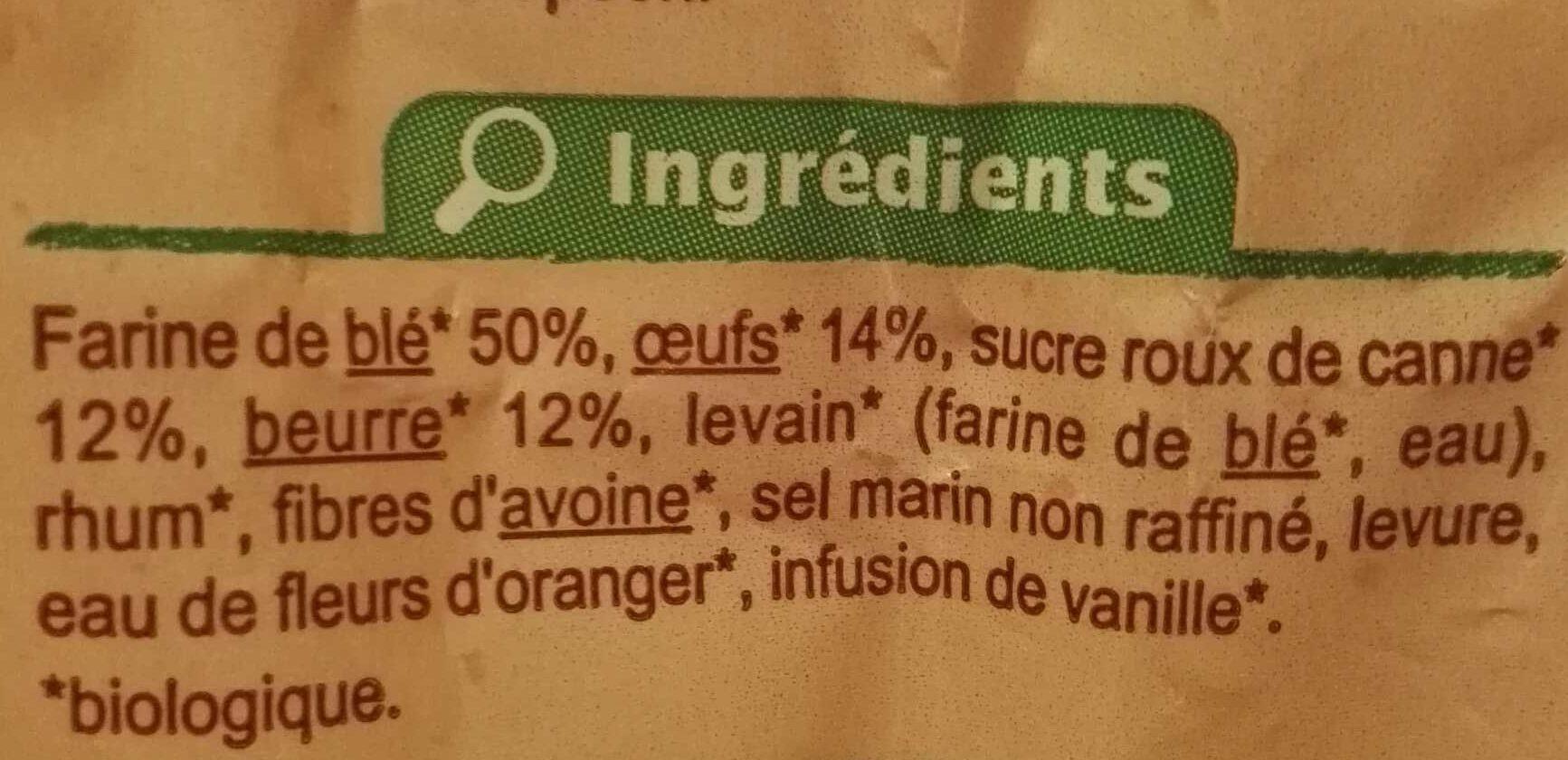 Brioche Tranchée Pur Beurre - Ingredients