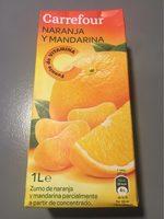 Zumo de naranja mandarinaparcialmente a partir de concentrado - Produit