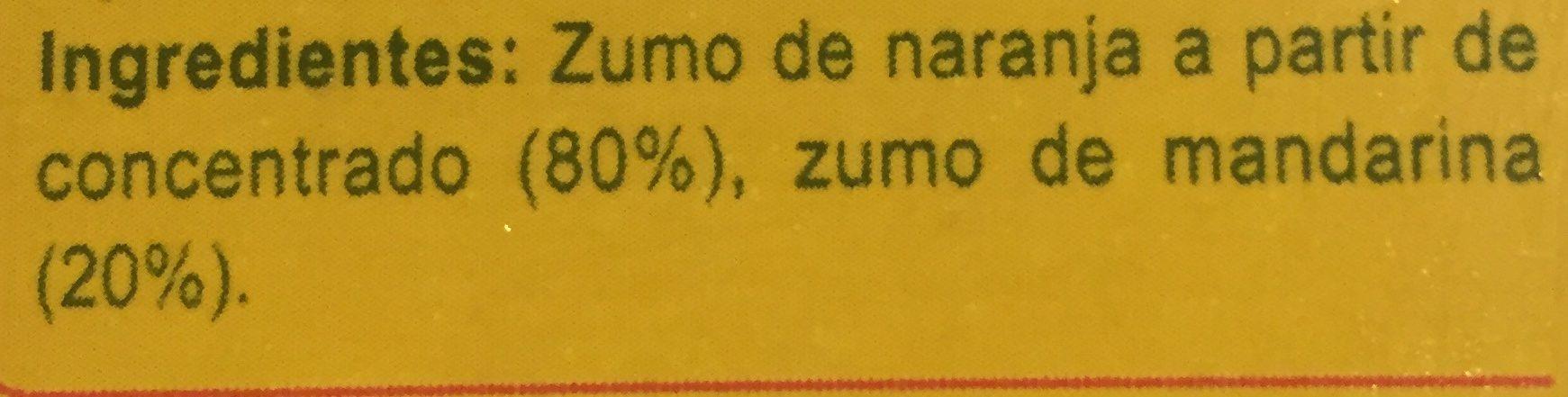 Zumo de naranja mandarinaparcialmente a partir de concentrado - Ingrédients