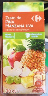 Zumo de piña manzana uvaa partir de concentrados