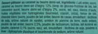 Tartelette au Caramel beurre salé - Ingrediënten - fr
