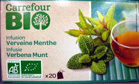 Infusion Verveine Menthe Bio Carrefour - Product - fr