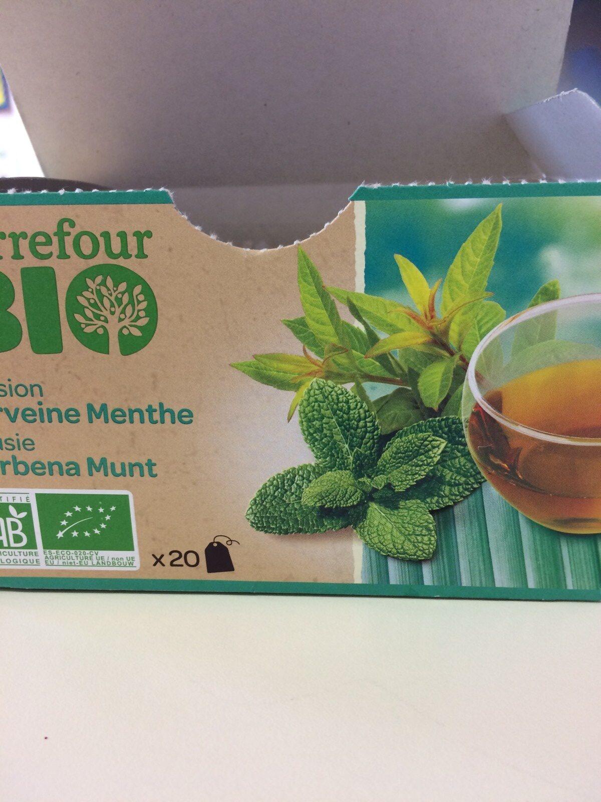 Infusion Verveine Menthe Bio Carrefour - Ingrédients - fr
