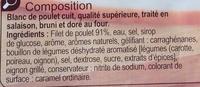 Blanc de pouletTranches épaisses - Ingrediënten - fr