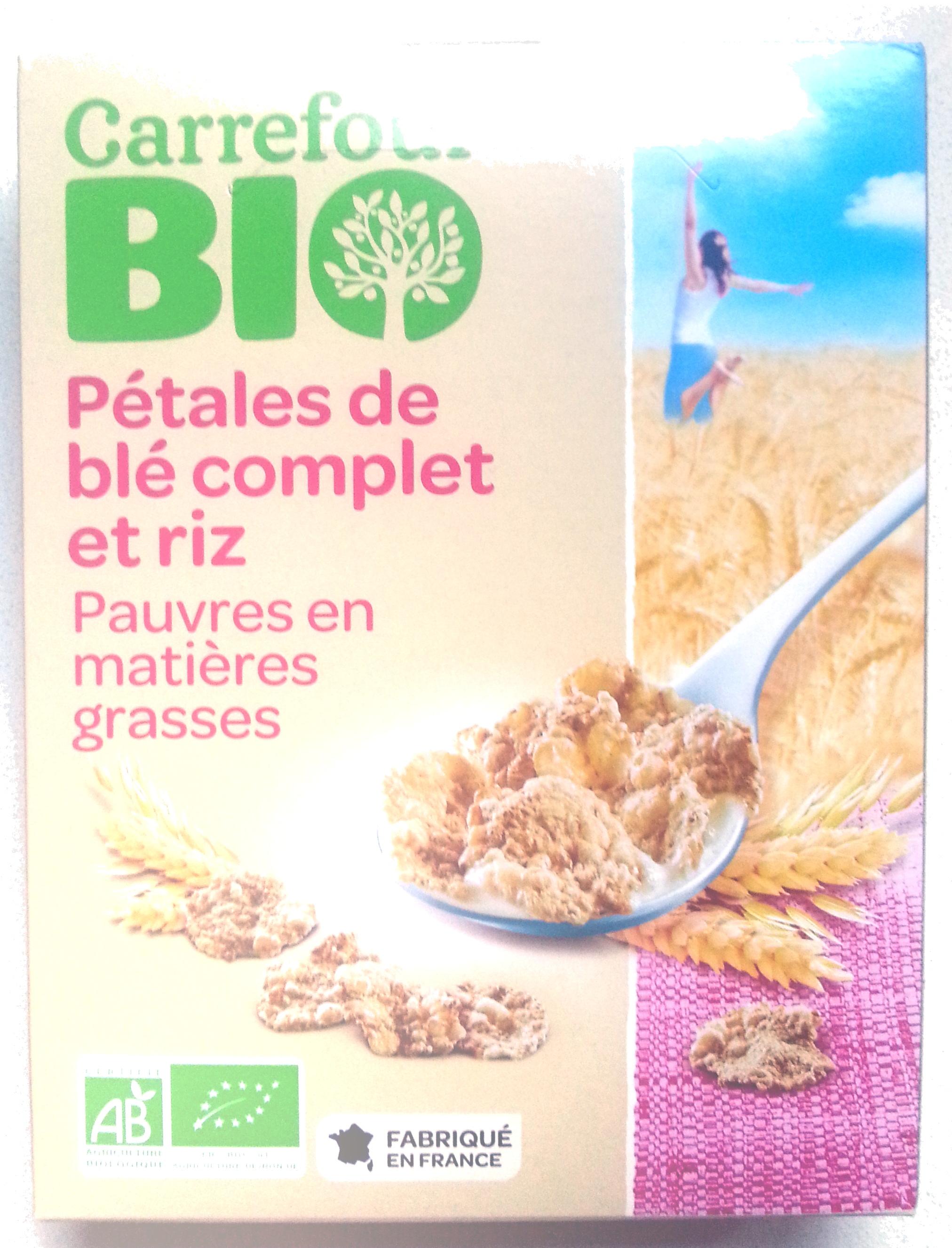 Pétales de blé complet et riz - Product