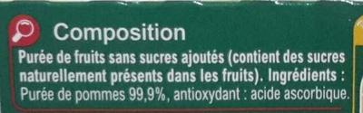 Sans sucres ajoutés * - Ingredienti - fr