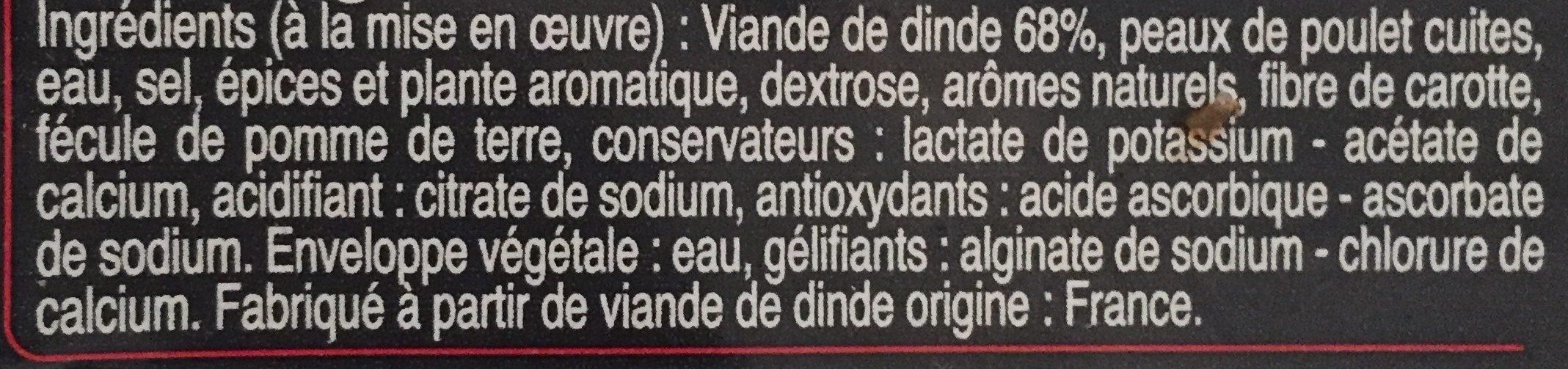 Merguez de volaille - Ingrédients - fr