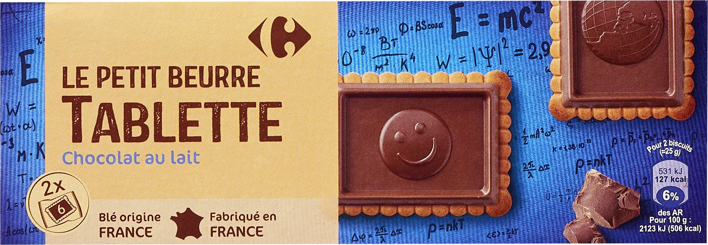 Le petit beurre  tablette  chocolat au lait - Produit - fr