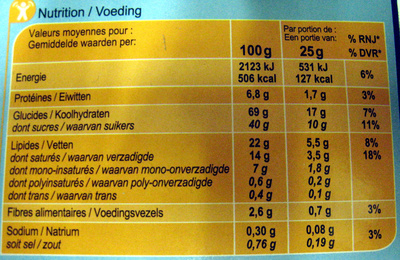 Le petit beurre  tablette  chocolat au lait - Informations nutritionnelles - fr