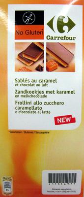 Sablé au caramel et chocolat au lait - Produit - fr