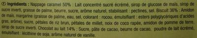 Sablé au caramel et chocolat au lait - Ingrédients - fr