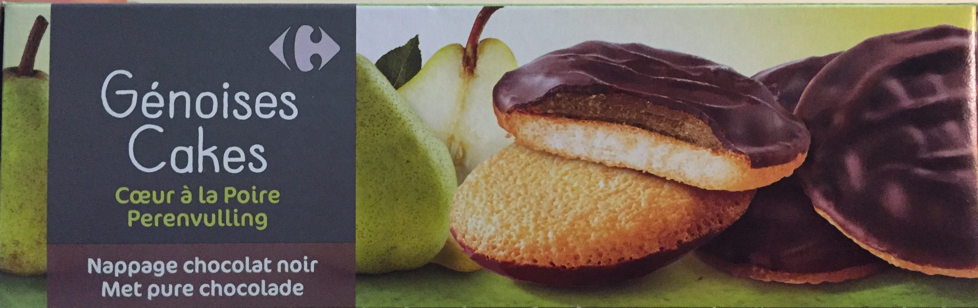 Génoises cœur à la poire nappage chocolat noir - Product
