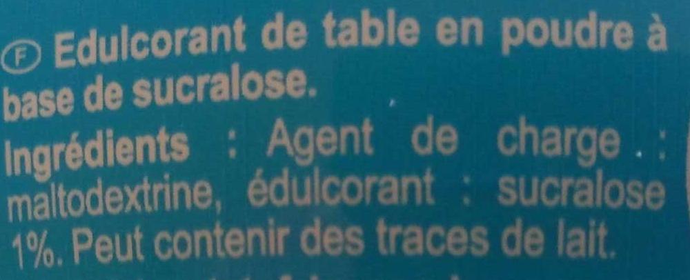 Sucralose - Ingrediënten