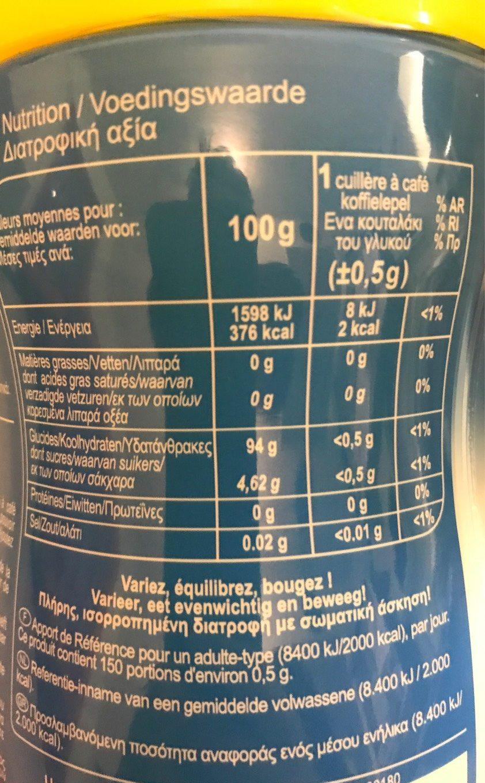Sucralose - Voedigswaarden
