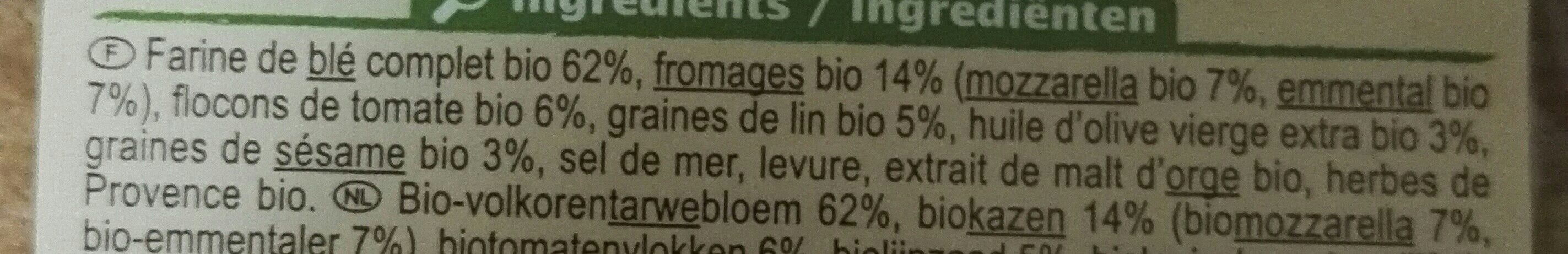 Crackers Fromages Tomate - Ingredients