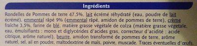 Gratin dauphinois surgelé - Ingrédients