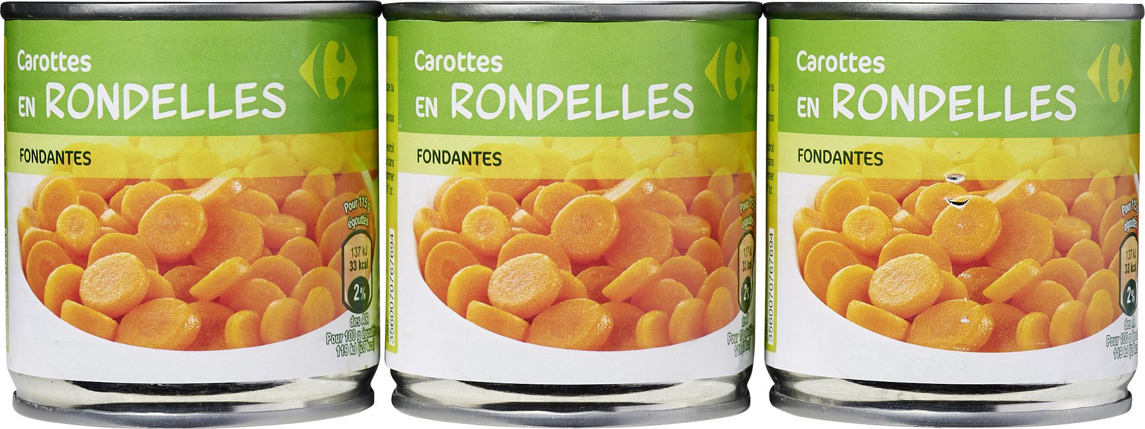 Carottes en rondelles - Lot de 3 - Produit