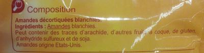 Amandes émondées - Ingrédients - fr