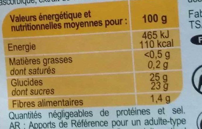Pommes ch taigne carrefour calories valeurs nutritionnelles et avis de consommation - Calories chataignes grillees ...