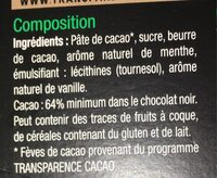 Noir menthe - Ingredients