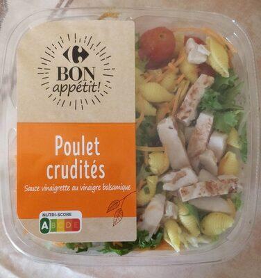 Poulet Crudités - Sauce vinaigrette au vinaigre balsamique - Produit - fr