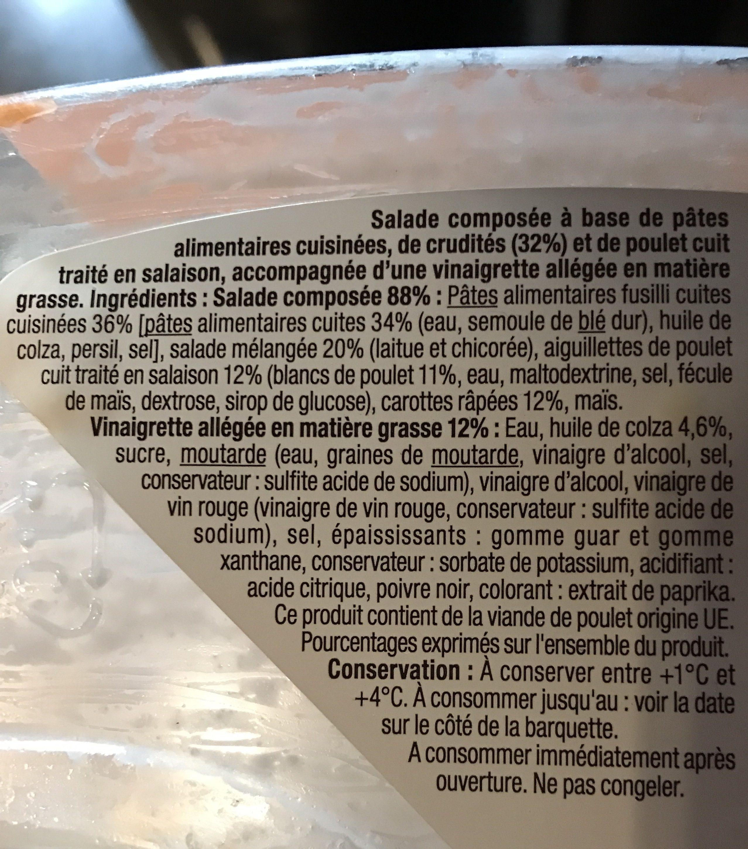 Poulet Crudités - Ingredients