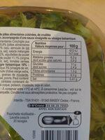 Poulet Crudités - Informations nutritionnelles - fr