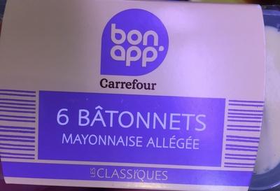6 bâtonnets mayonnaise allégée - Produit - fr