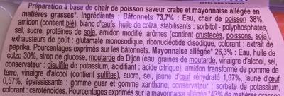 6 bâtonnets mayonnaise allégée - Ingrédients - fr